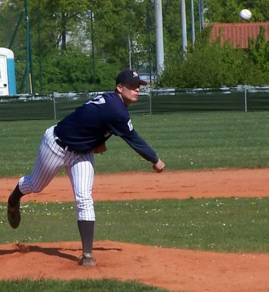 Holger Koch (23) warf fünf Innings lang ohne Hit oder Run für die Hornets.