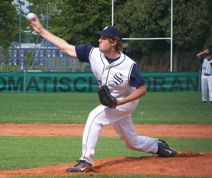 Pitcher Matthias Wöhrl (18) markierte den letzten Sieg der Schanzer Baseballer in dieser Saison