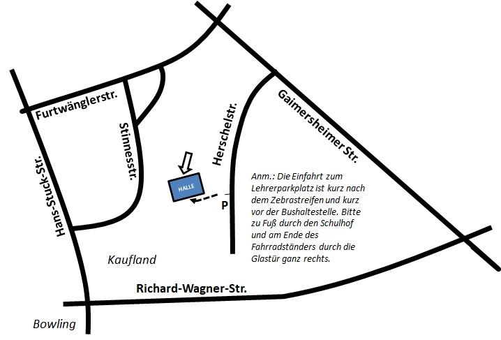 Wegbeschreibung Sir-William-Herschel-Mittelschule
