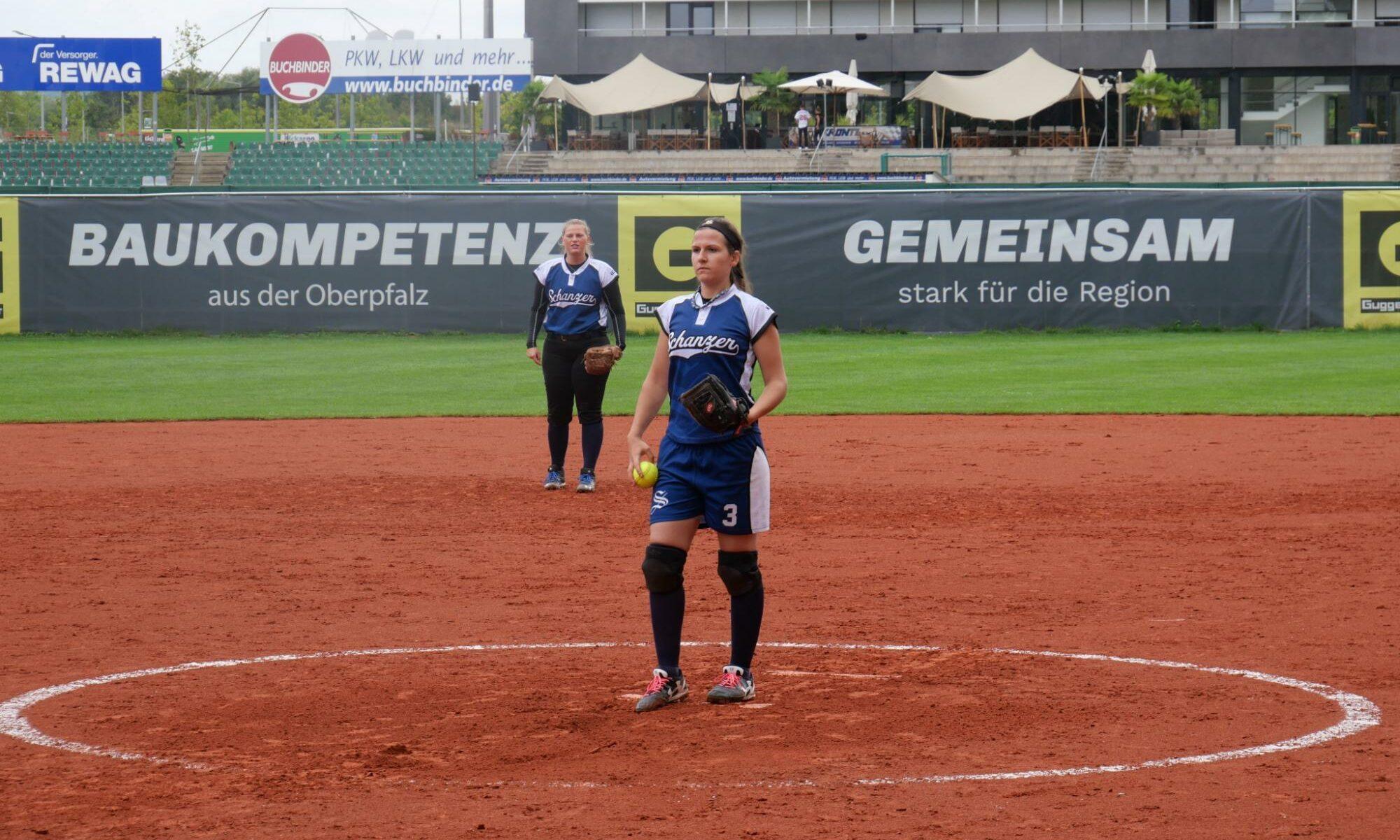 Mit den erfahrenen Spielerinnen Maria Schütz (Pitcher) und Katrin Peter (Shortstop) auf den Schlüsselpositionen war für Regensburg im zweiten Spiel nichts zu holen.
